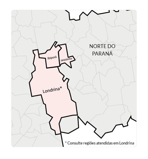 Mapa da região atendida