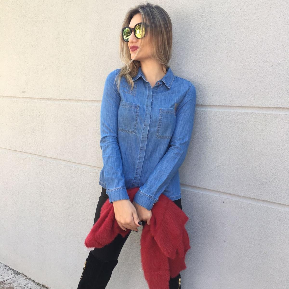 3b3193454 Camisa Julia na Evana Bloom